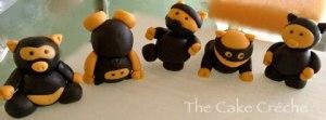 Ninja-Pigs-fondant-figures