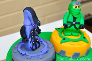 Ninjago-Green-Ninja-and-Pythor-fondant-figures