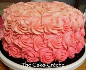 Pink Ombre Rosette cake