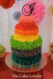 Rainbow Rosette cake