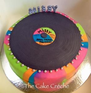 Soul Train Record cake
