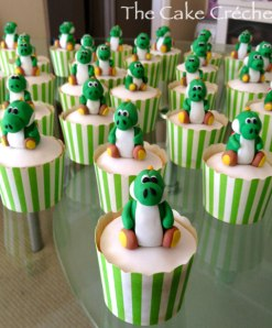 Yoshi-cup-cakes