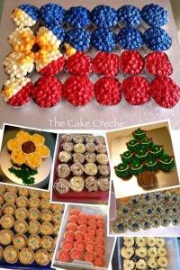 Philippine flag cupcakes