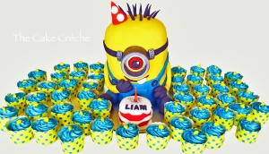 Minion and cupcake army