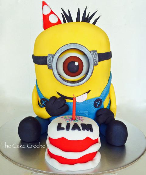 How To Make A D Minion Birthday Cake