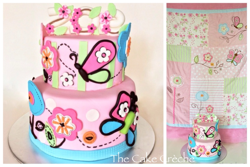 Flowers and butterflies cake The Cake Crche