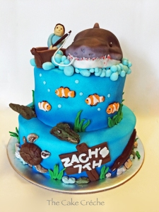 Fishing Shark Ocean cake