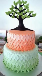 Tree Baby Shower cake