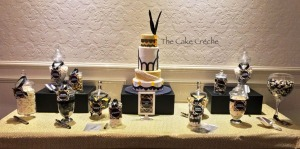 Great Gatsby cake and candy buffet copy