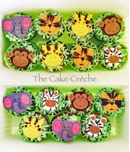 Jungle Safari cupcakes