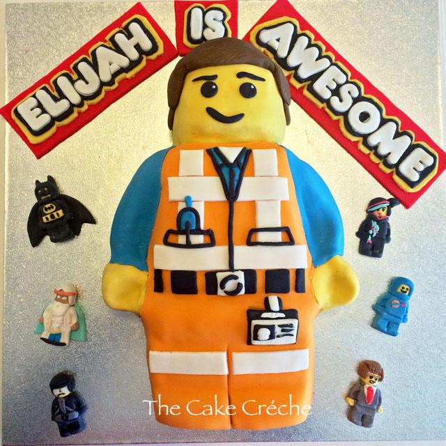 Lego Movie Emmet Birthday Cake