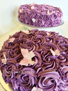 Ube Macapuno Purple Rosettes cake