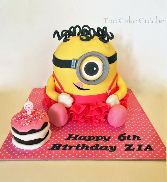 Girl minion cake and cupcakes The Cake Crche